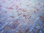 Surface abstraite du circuit imprimé, illustration. — Photo de stock
