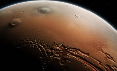 Tharsis region and Valles Marineris on Mars, illustration. — Stock Photo