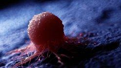 Obra digital coloreada de células cancerosas . - foto de stock