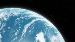 Illustration der Erdoberfläche aus dem All. — Stockfoto