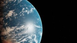 Illustration of the Earth planet  from space. — Stock Photo