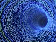 Иллюстрация технологического абстрактный сплетения туннеля искривления. — стоковое фото