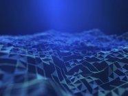 Illustration du plexus futuriste numérique abstrait . — Photo de stock
