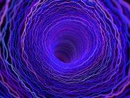 Иллюстрация фиолетовый технологических абстрактный сплетения туннель деформации. — стоковое фото
