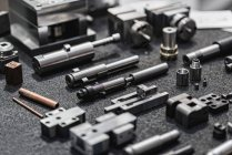 Close-up of various industrial spare parts. — Foto stock