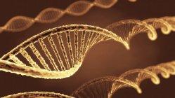 Moléculas de ADN helicoidales, ilustración digital . - foto de stock