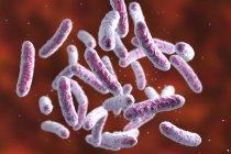 Ilustração digital da colônia de bactérias em forma de bastão . — Fotografia de Stock