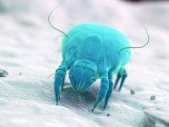 Голубой цветной пылевой клец, цифровая иллюстрация. — стоковое фото