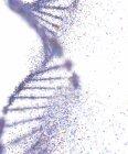 Dna dañada, ilustración conceptual del desorden genético. - foto de stock