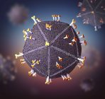 Abstract human immunodeficiency virus particles, digital illustration — Stock Photo