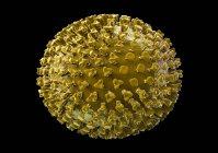 Virus de la grippe, illustration informatique — Photo de stock
