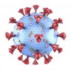 Coronavirus particle, computer illustration — Stock Photo