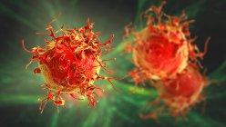 Cellule cancéreuse de la peau, illustration informatique. — Photo de stock