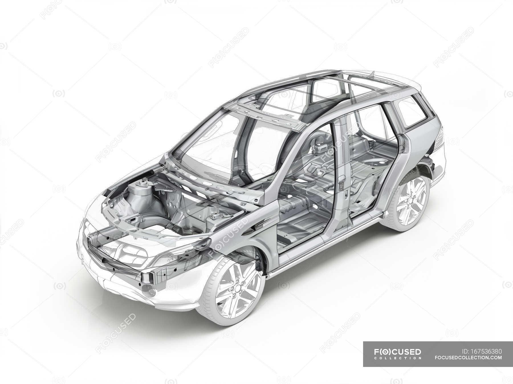 Technische Zeichnung des Auto-Struktur — Stockfoto   #167536380