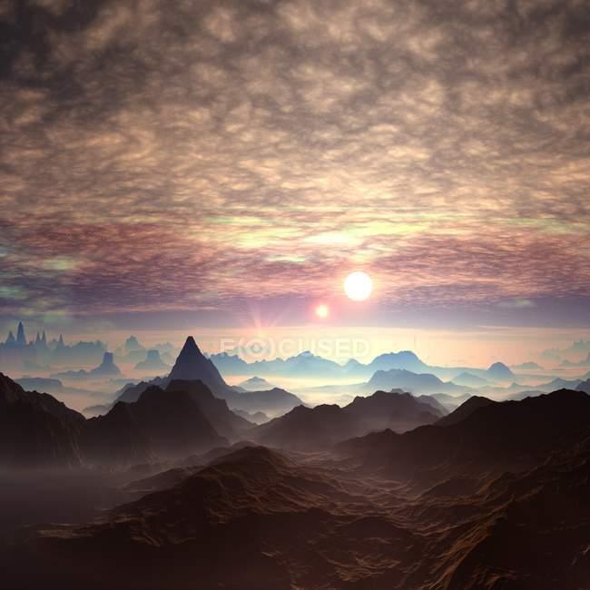 Поверхность планеты пришельцев — стоковое фото