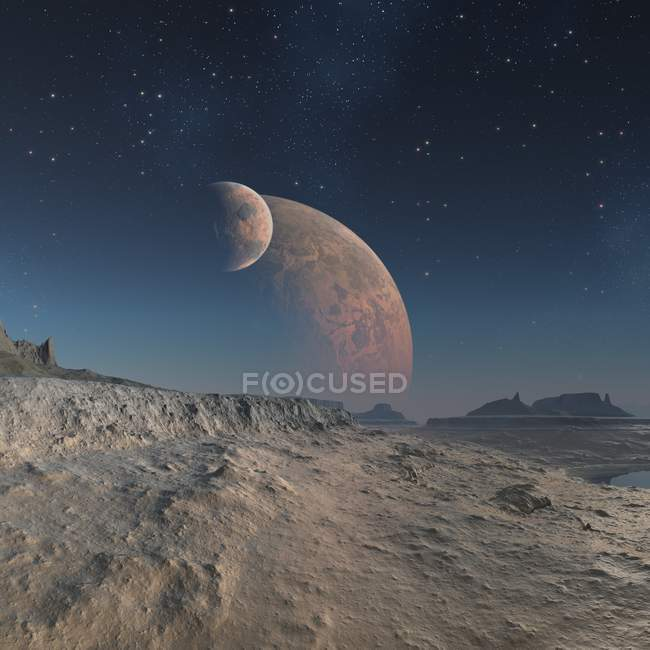 Alien planet surface — Stock Photo