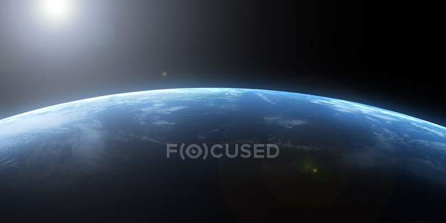Platen Earth seen from space — Stock Photo