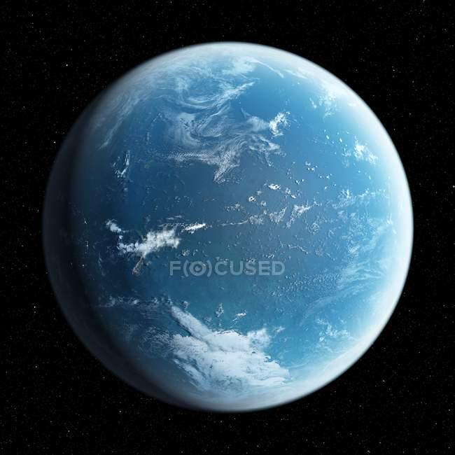 Планета Земля из космоса — стоковое фото