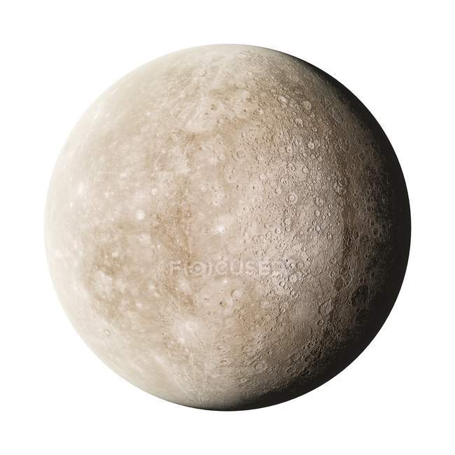 Visual rendering of Moon surface — Stock Photo