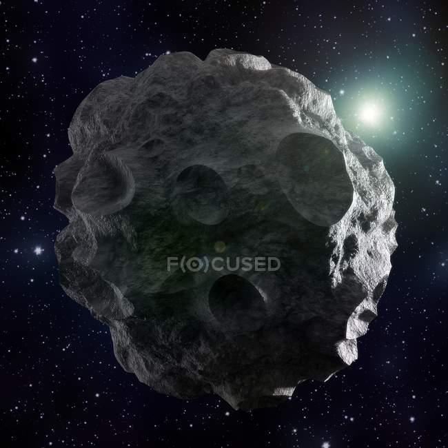 Obra de arte de grande asteróide — Fotografia de Stock