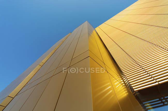 Modern building facade in sunset light — Stock Photo