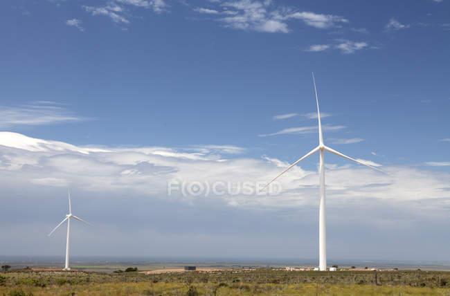 Turbinas eólicas em Jeffreys Bay — Fotografia de Stock