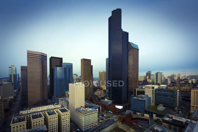 Skyscraper towers at Seattle — Stock Photo