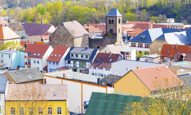 Vista das casas na aldeia tradicional, Alemanha. — Fotografia de Stock