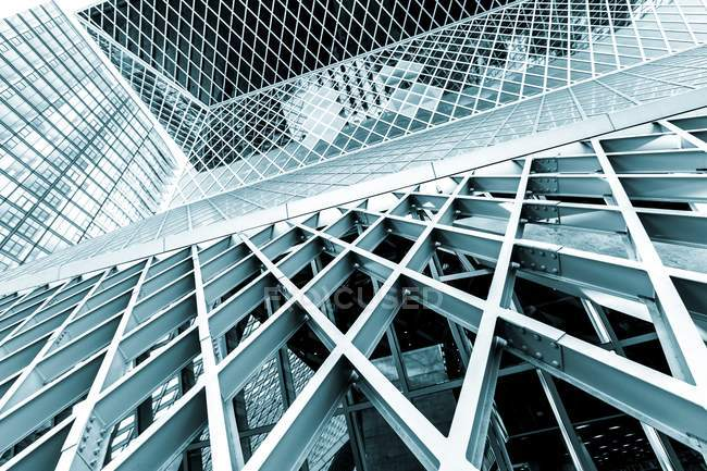 Glass and steel building, abstract pattern. — Stock Photo