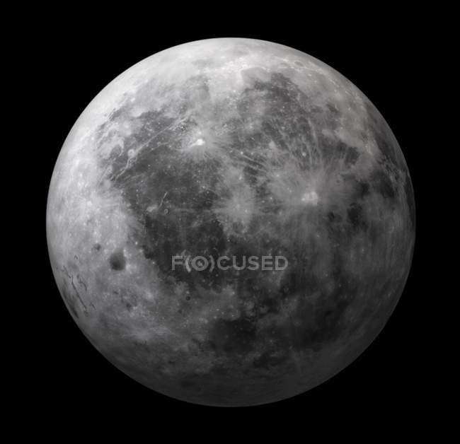 Dark side of the Moon — Stock Photo