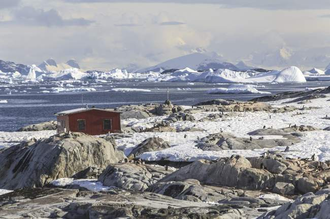 Port Lockroy in Antarctic Base, antarktische Halbinsel. — Stockfoto