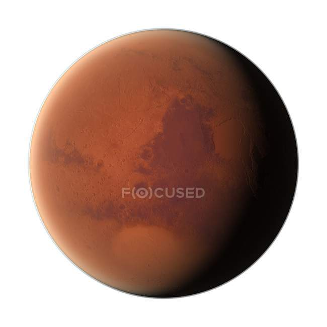 Visual rendering of exoplanet — Stock Photo