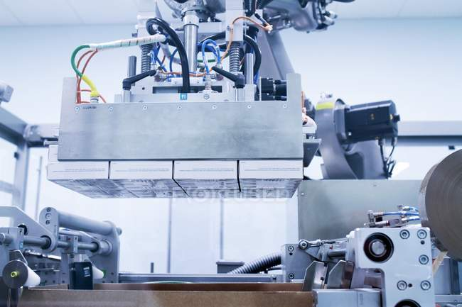 Machinery in pharmaceutical production plant. — Stock Photo