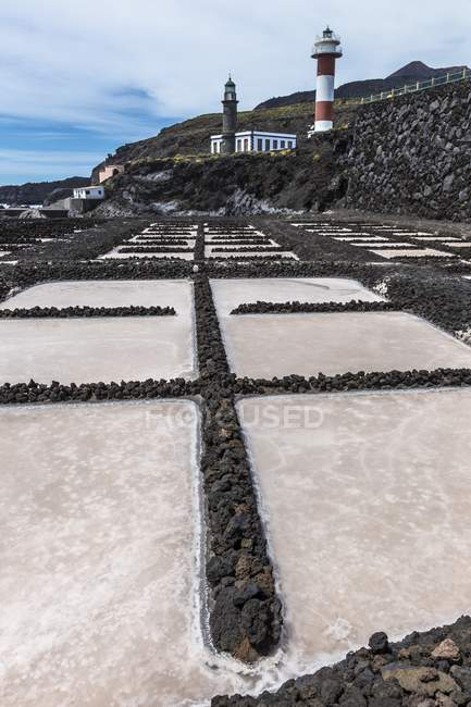 Salt pans in Salinas de Fuencaliente, La Palma, Canary Islands. — Stock Photo