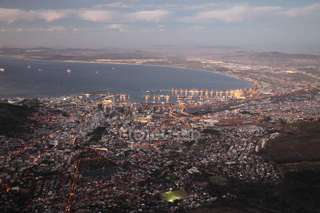 Cityscape of Cape and Table Bay, Cape Town, South Africa. — Stock Photo