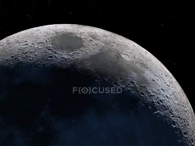 Вигляд з супутника місяця — стокове фото