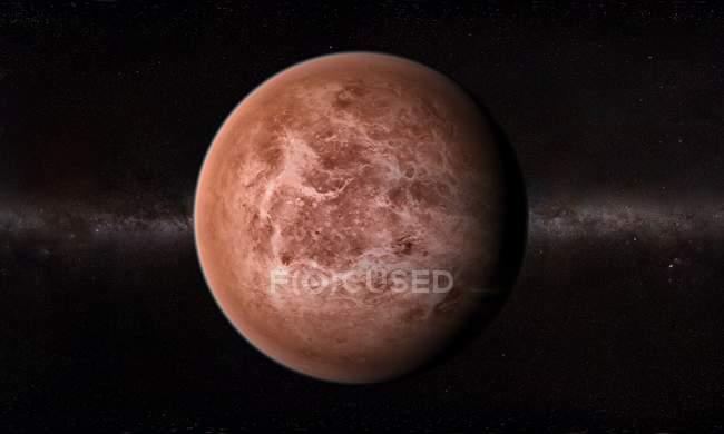 Orbital view of Venus surface — Stock Photo