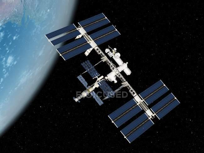 Estación Espacial Internacional - foto de stock