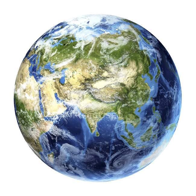 Satellite view of Asia — Stock Photo