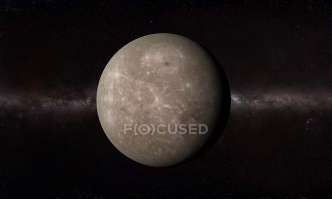Orbital view of Mercury surface — Stock Photo