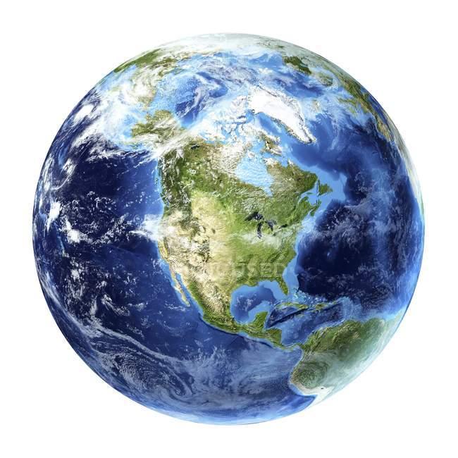 Satellite view of North America — Stock Photo