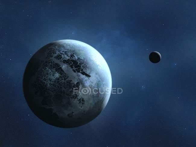 Alien earth-like planet — Stock Photo