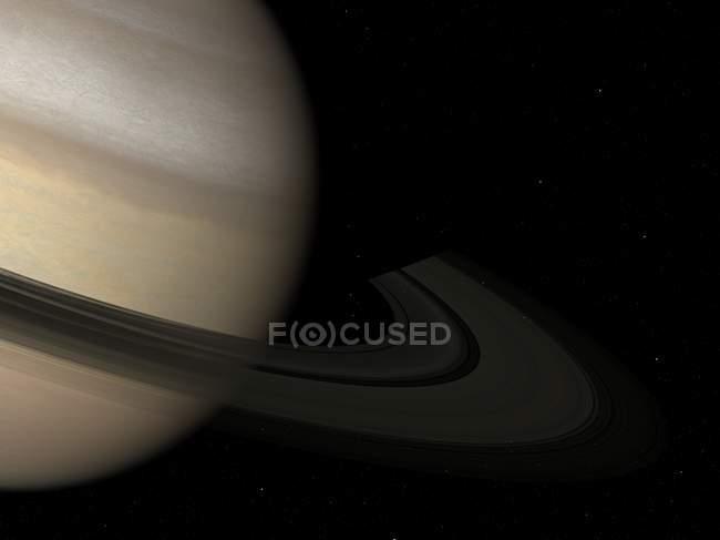 Vista satellitare di Saturno — Foto stock