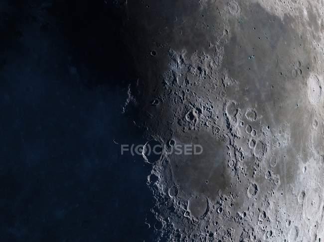 Satélite vista de la Luna - foto de stock