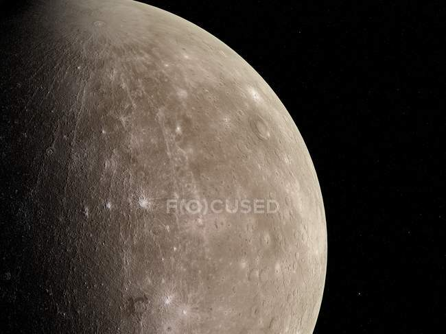 Vista satellitare di Mercurio — Foto stock