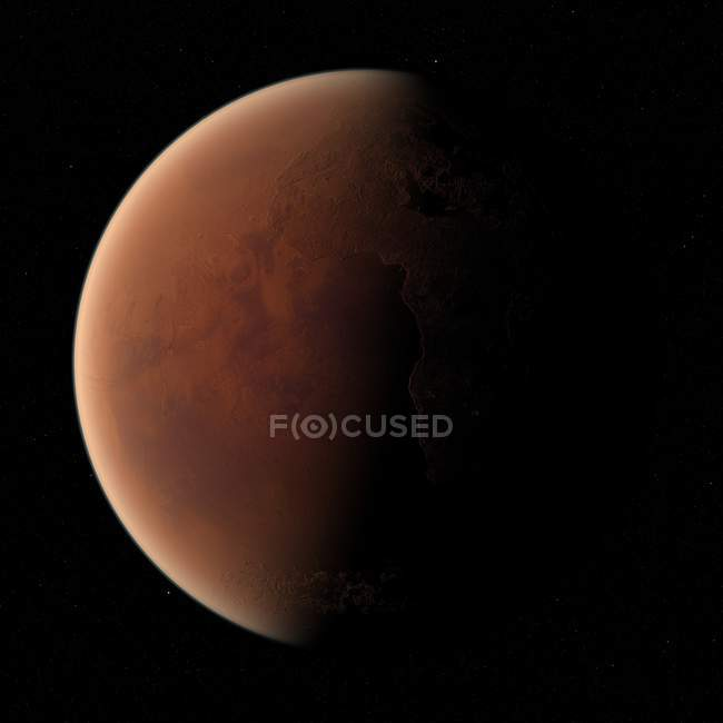 Vue satellite de Mars — Photo de stock