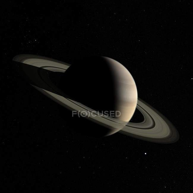 Vue satellite de Saturne — Photo de stock