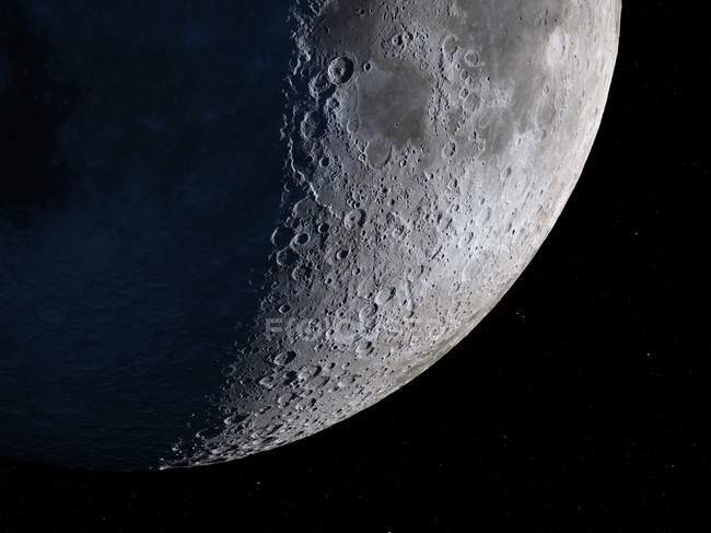 Vue satellite de la Lune — Photo de stock