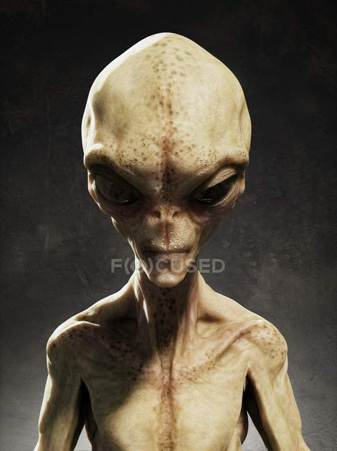 Hypothetical alien life form — Stock Photo