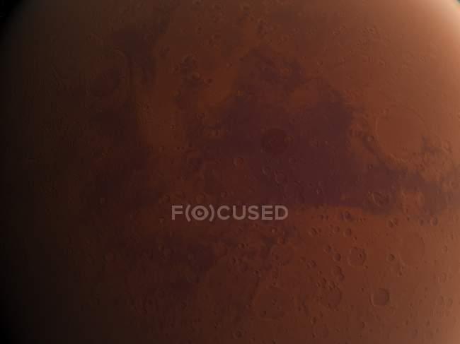 Vista satellitare di Marte — Foto stock